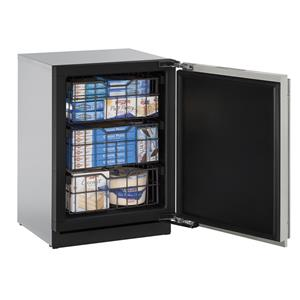 4.5 cu. ft. Left-Hand Hinged Built-In Freezer with 3 Full-Extension Vinyl-Coated Wire Baskets and Left-Handed Hinge