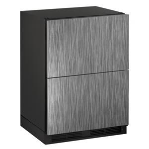 "U-Line Refrigerators 5.4 cu. ft. 24"" Refrigerator Drawers"