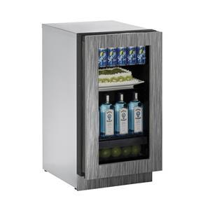 "U-Line Refrigerators 18"" Glass Door Compact Refrigerator"