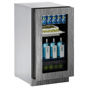 "U-Line Refrigerators 18"" Glass Door Refrigerator"