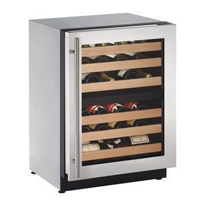 "U-Line Wine Captains - 2014 4.7 Cu. Ft. 24"" Built-in Wine Storage"