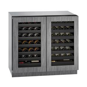 """U-Line Wine Captains - 2014 36"""" Built-In Double Door Wine Storage"""