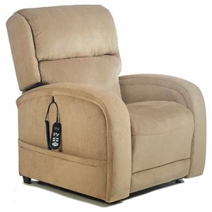 Lift Recliner with Rounded Track Arms