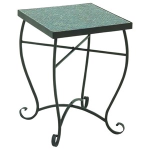 Metal/Turquoise Mosaic Accent Table