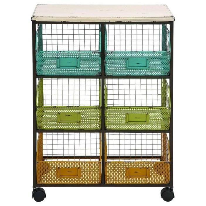 Accent Furniture Metal/Wood Storage Cart by UMA Enterprises, Inc. at Wilcox Furniture
