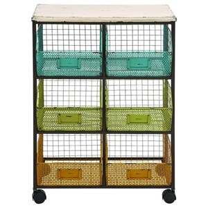 Metal/Wood Storage Cart