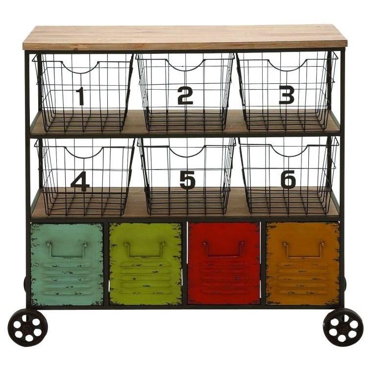 Accent Furniture Metal Storage Cart by UMA Enterprises, Inc. at Wilcox Furniture