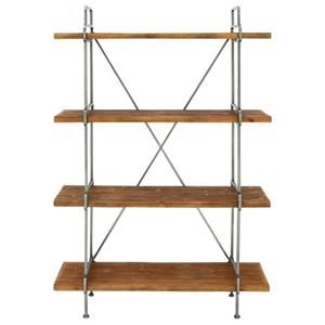 Wood/Metal 4-Tier Shelf