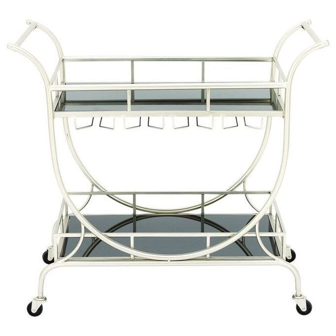 Accent Furniture Metal/Glass Cart by UMA Enterprises, Inc. at Rooms for Less