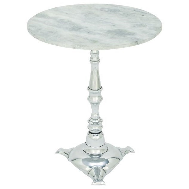 Accent Furniture Aluminum Marble Accent Table by UMA Enterprises, Inc. at Rooms for Less