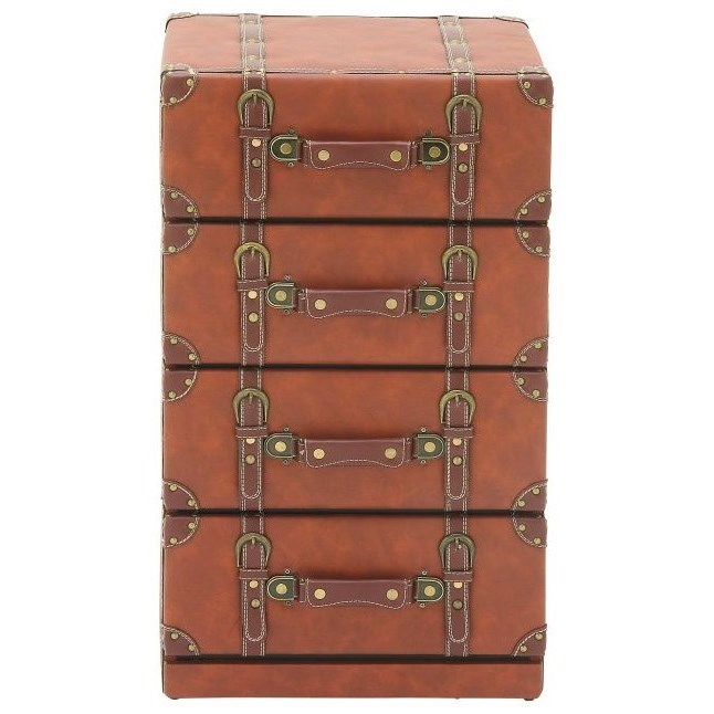 Accent Furniture Faux Leather 4 Drawer Chest by UMA Enterprises, Inc. at Wilcox Furniture