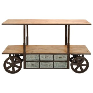 Metal/Wood Adjustable Media Cart