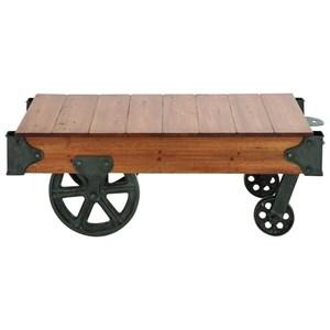 Wood/Metal Coffee Table Cart