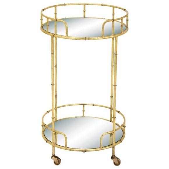 Accent Furniture Metal/Mirror Bar Cart by UMA Enterprises, Inc. at Wilcox Furniture