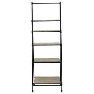 Metal/Wood Shelf Stand