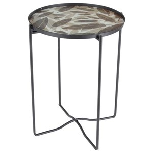 Metal/Glass Accent Table
