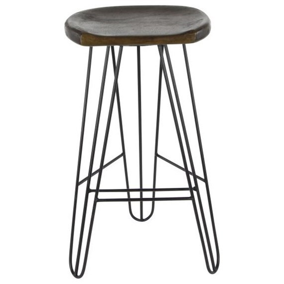 Accent Furniture Wood/Metal Bar Stool by UMA Enterprises, Inc. at Wilcox Furniture