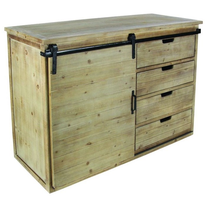 Accent Furniture Wood/Metal Cabinet by UMA Enterprises, Inc. at Wilcox Furniture