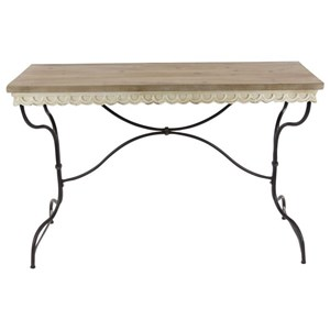 Metal/Wood Consol Table
