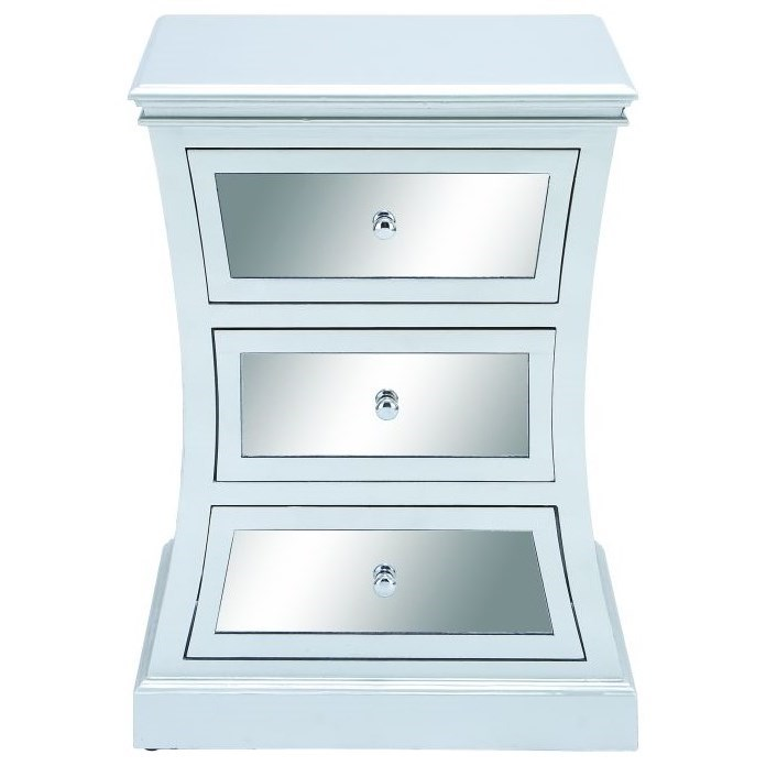 Accent Furniture Wood Mirror Side Cabinet by UMA Enterprises, Inc. at Wilcox Furniture