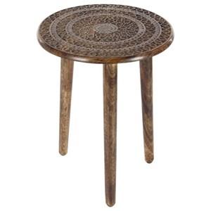 Wood Tripod Round Table