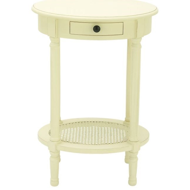 Accent Furniture Wood White Accent Table by UMA Enterprises, Inc. at Wilcox Furniture