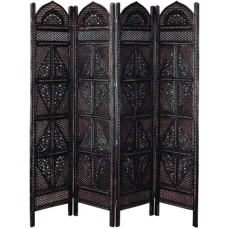 Accessories Wood 4 Panel Screen by UMA Enterprises, Inc. at Wilcox Furniture