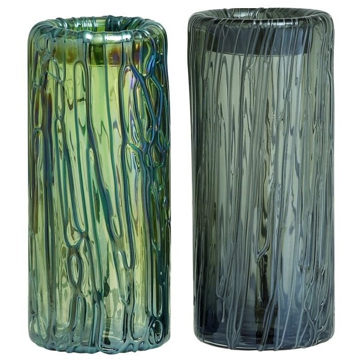 Accessories Glass Vases, Set of 2 by UMA Enterprises, Inc. at Wilcox Furniture