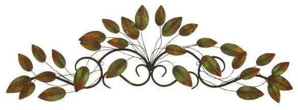 Wall Art Metal Leaf Decor by UMA Enterprises, Inc. at Wilcox Furniture