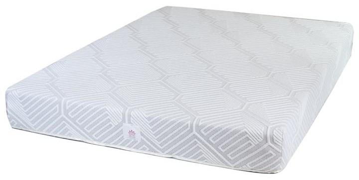Lotus California King 8 inch Gel Memory Foam Mattr by United Bedding at Johnny Janosik