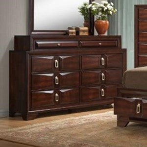 8 Drawer Dresser with Top Jewelry Storage