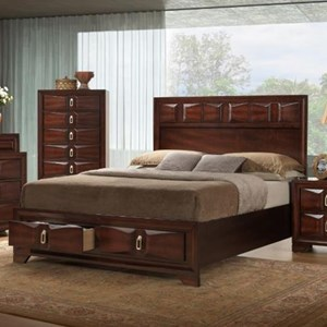 King Storage Bed with 2 Drawers