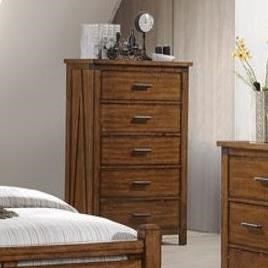 1022 Logan 5 Drawer Chest by Lane at Powell's Furniture and Mattress