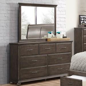 Rustic Dresser and Mirror Set