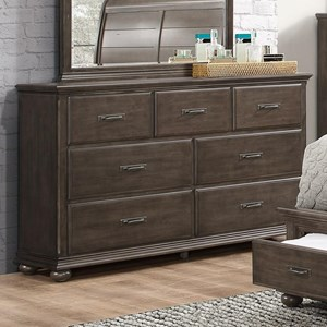 Rustic Dresser with 7 Drawers