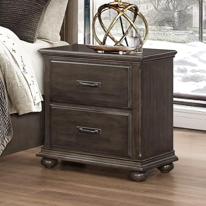 Larissa Night Stand by Umber at EFO Furniture Outlet