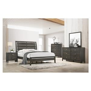 Queen Panel Bed, Dresser, Mirror, 2 Nightstands and Chest Package