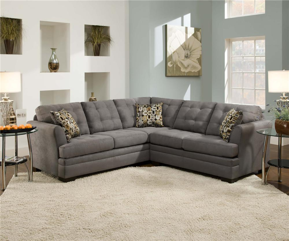 Velocity Velocity Slate 2-Piece Sectional by Simmons Upholstery at Dunk & Bright Furniture