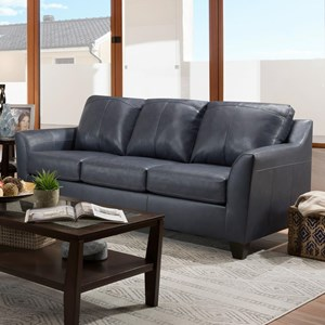 Contemporary Queen Sofa Sleeper with Tapered Arms