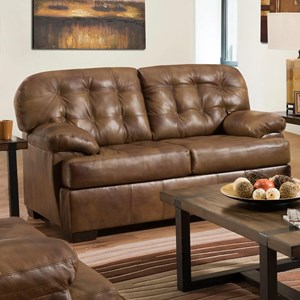 Casual Loveseat with Tufted Back