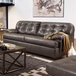 Casual Sofa with Tufted Back