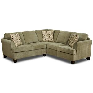 United Furniture Industries 2052 and 2062 Sectional Sofa