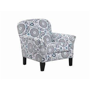 Transitional Accent Chair with Flared Arms