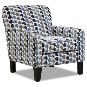 Transitional Accent Chair with Tight Seat Back