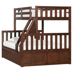 3000 Mission Hills Chesnut Youth Bunk Bed with Storage by Lane at Powell's Furniture and Mattress