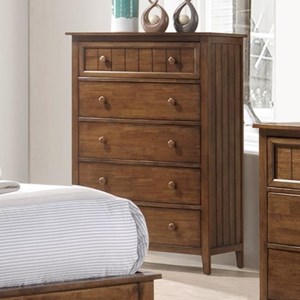 Rustic Chest of Drawers with Plank Panels