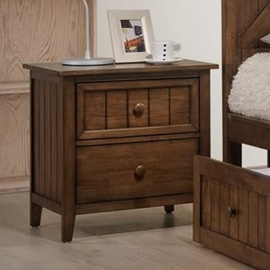 Rustic Night Stand with Plank Panels