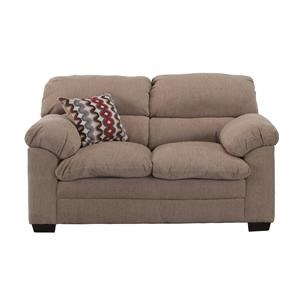 Casual Love Seat with Pillow Arms