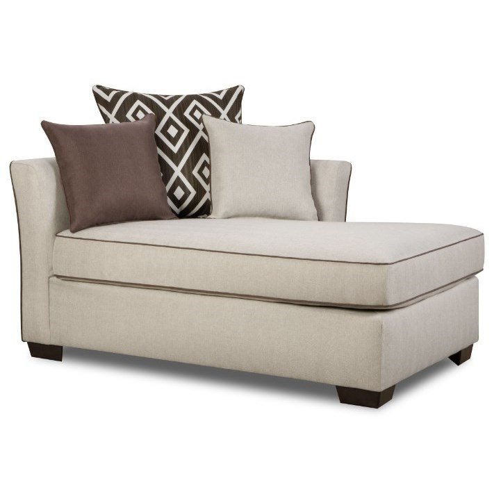 4202 Transitional One Arm Chaise by Simmons Upholstery at O'Dunk & O'Bright Furniture