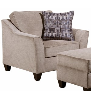 Contemporary Chair with Flare Tapered Arms